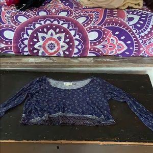 Cropped LA hearts long sleeve shirt